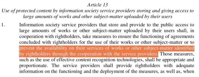 Art .13 ACTA